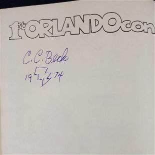 Orlandocon Program Book Signed By CC Beck Shazam