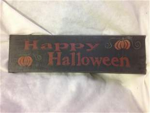 NOS-Rustic Halloween Decor Sign-Happy Halloween lot 5