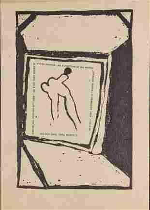 Vintage Peter Bodnar Art Gallery Showing Mini Print