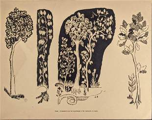 Two Vintage Medieval Style Prints