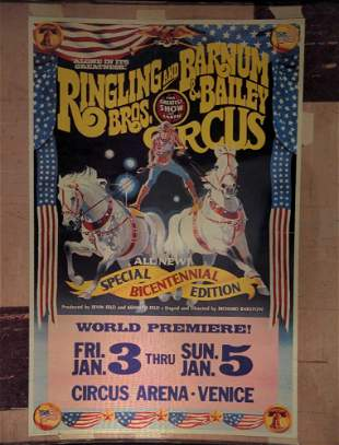 Ringling Brothers Barnum Circus Poster Transparency A