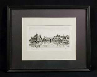 Framed Limited Edition Print Of Budapest