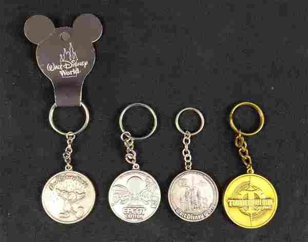 Disney World Land Pewter Keychains Lot Of Four