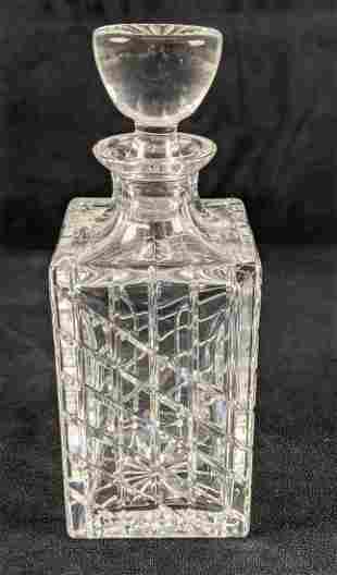 Vintage Atlantis Crystal Whiskey Decanter & Stopper