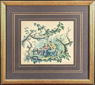 Color Chinese Style Print Francois Boucher