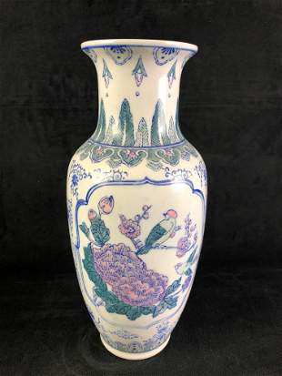 Chinese Porcelain Flower and Plant Vase #2