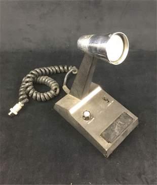 Vintage CB, HAM Base Station Microphone on Stand.