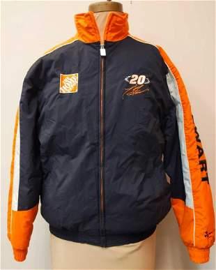 Nascar Tony Stewart Mens Nylon Quilted Jacket Size