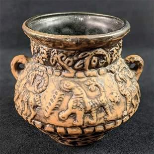 Vintage Jasba Keramik Fat Lava Aztec Replica Vase