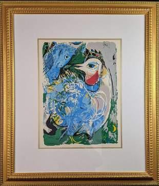 Framed Marc Chagall Interpretation Litho Mural X9