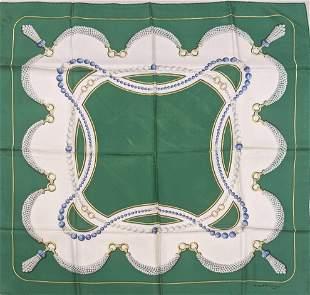 Vintage Cartier Must De Cartier Silk Scarf Necklace