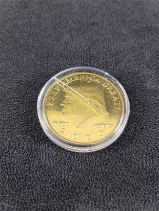 Donald Trump Gold Plated Collectable Coin