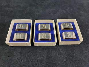 Oval Silver Plated Napkin Holders
