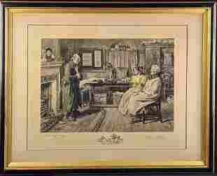 """James Dobie """"Country Clients"""" Engraving After Walter"""