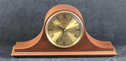 Vintage Mantel Desk Wooden Clock