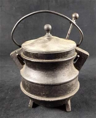 Vintage Cast Iron Fire Starter Melting Pot