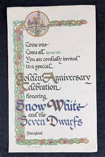Walt Disney's Snow White Golden Anniversary Poster