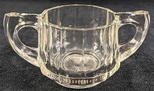 Vintage Glass Open Sugar Bowl