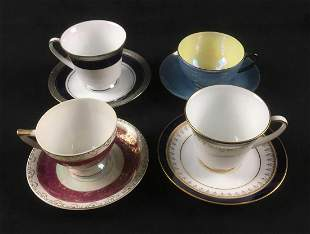 Lot of 4 Teacups and Saucers