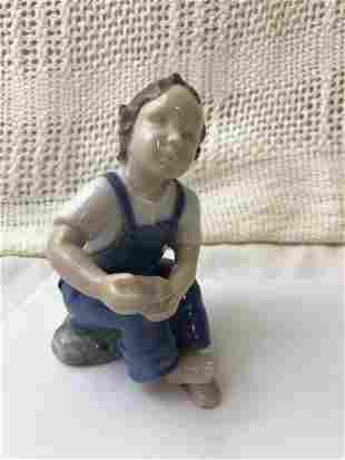 Boy With Blue Shoe by Bing & Grondahl made in