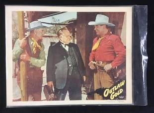 Outlaw Gold Lobby Card Memorabilia