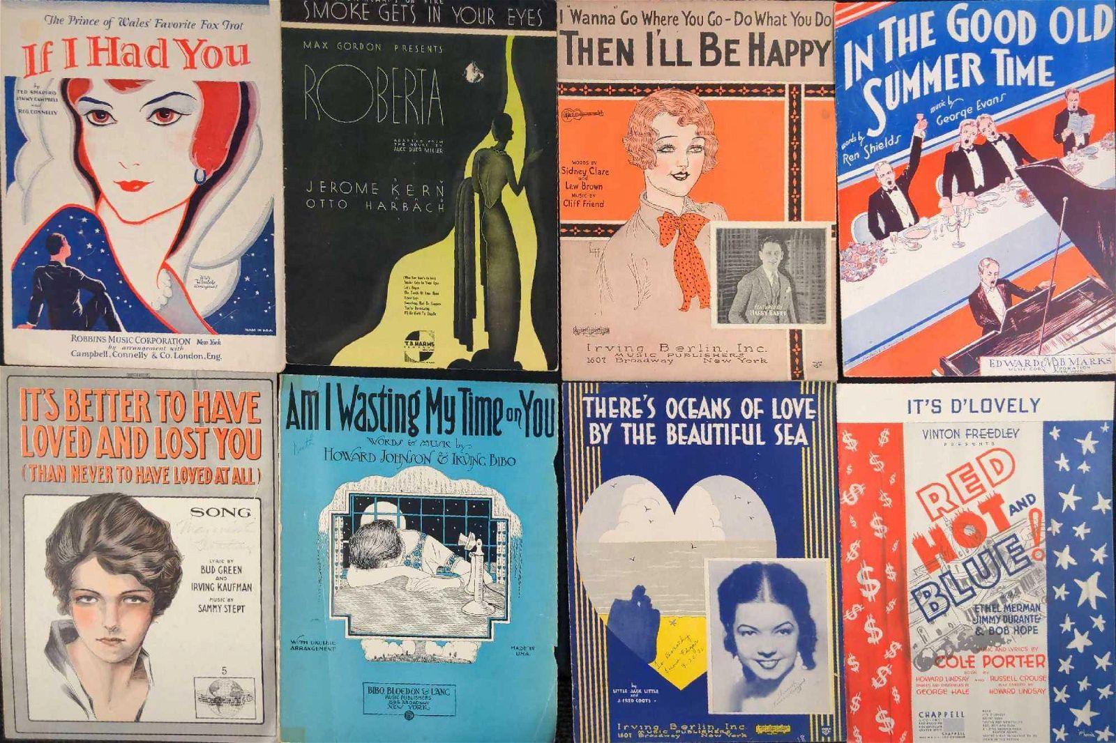 Eight Vintage Sheet Music Jazz Cole Porter