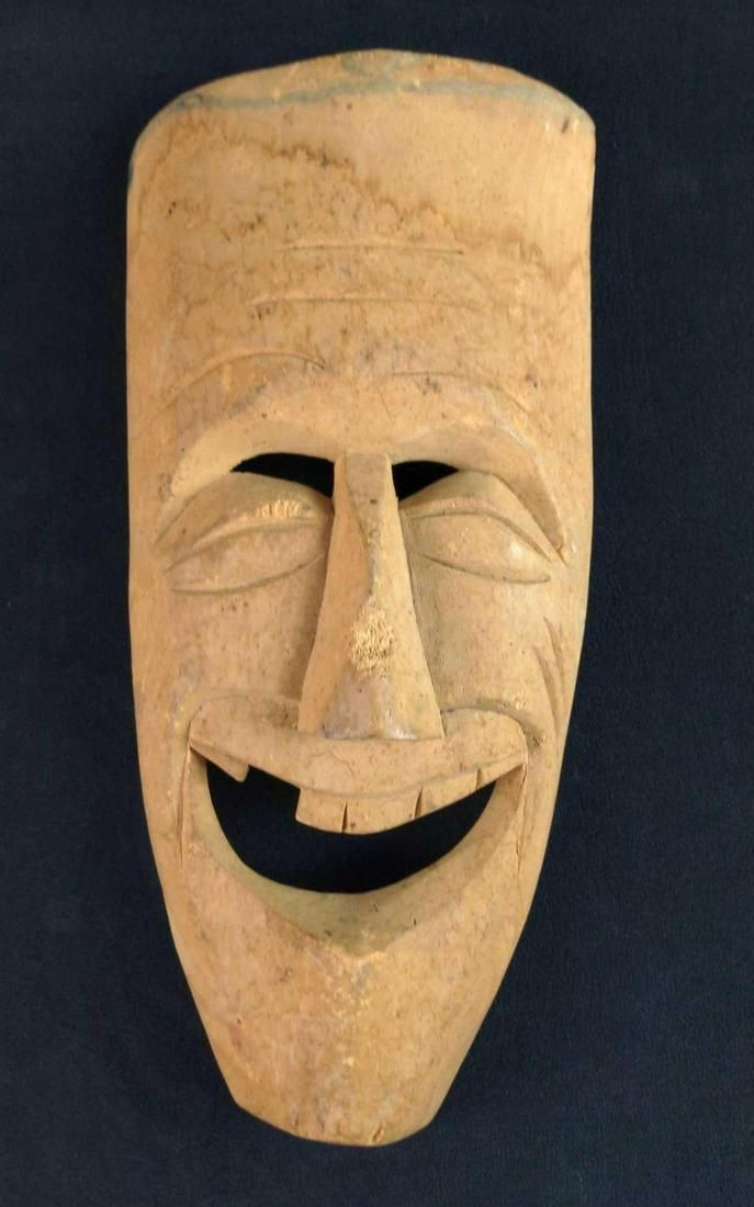 Replica Vintage African Style Tribal Mask Laughing