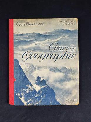 Vintage French Geography Book
