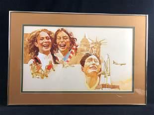 Americana Acrylic Painting Original United States