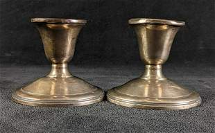 Sterling Silver Weighted Reinforced Candle Sticks