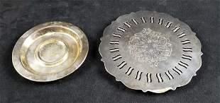 Vintage Oneida Silversmiths Trivet and Saucer