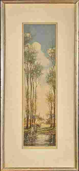 Original Etching Artists Proof Vaughan Trowbridge