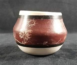 Desert Pueblo Pottery Hand Etched