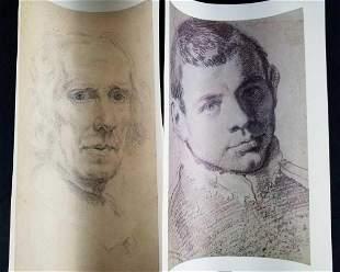 Self Portrait Prints of Giovanni Lorenzo Bernini and