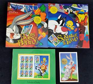 Warner Brothers Looney Tunes Stamps And Postcards