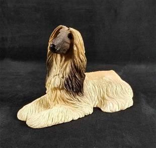 Sandicast Afghan Blonde Dog Statue