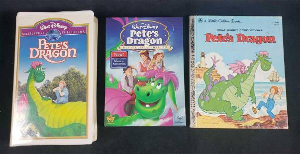 Petes Dragon DVD VHS and Book