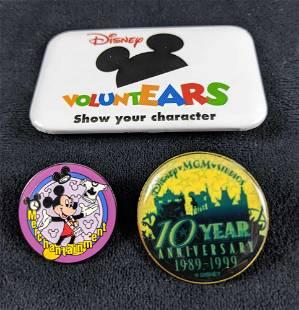 Lot Of Three Disney Cast Member Pins