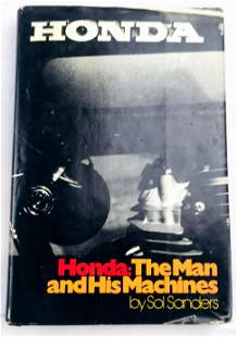 Honda: The Man and His Machines Hardcover 1975