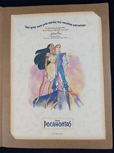 Rare Vacation Adventure Disney Pocahontas Print