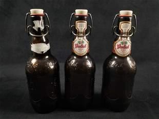 A Lot of 3 Vintage Beer Bottles Holland Grolsch Holland