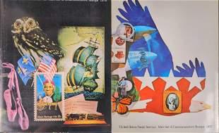 1977 And 1978 Commemorative US Postal Stamp Set