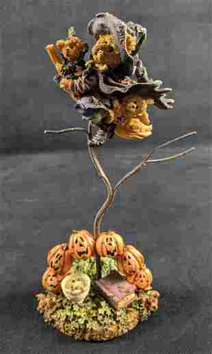 Boyds Bearstone Halloween Tabitha With Wolsey And Zip