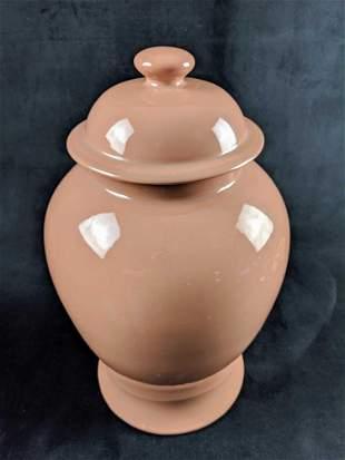 Very Large Pink Mid Century Modern Porcelain Urn