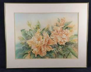 Framed Limited Editon Signed Floral Print Anna Chen