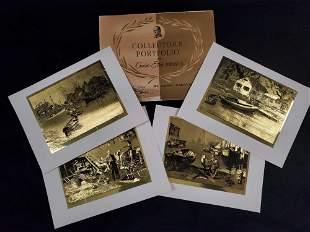 Vintage Lionel Barrymore Gold Foil Etch Print Set