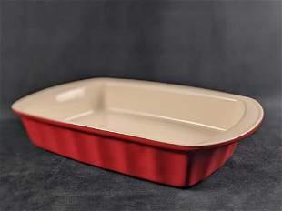 Good Cook Red Rectangle Ceramic Dish