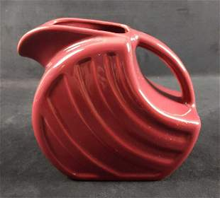 Vintage Alamo Maroon Pottery Pitcher