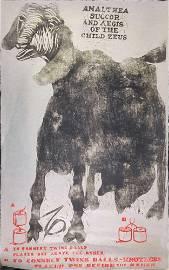 Vintage Amalthea She-Goat Zeus Poster