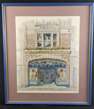 Crabtree And Evelyn Building Framed In Store Art